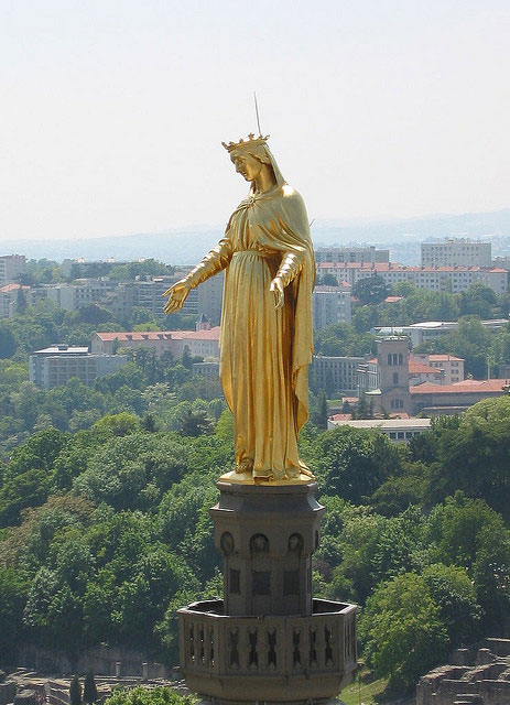 Statue of the Virgin Mary, Shrine of Notre-Dame de Fourvière.