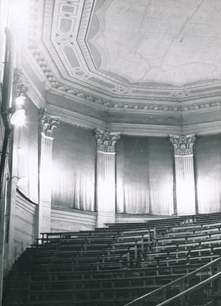 Interior of the former seminary chapel, now Olivier Messiaen Hall.
