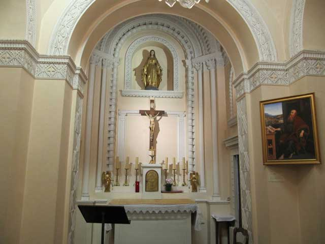 Interior of the Chapel at Lorette.