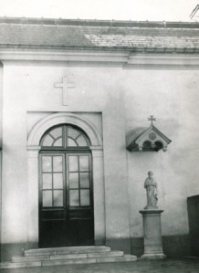 Former chapel entrance, Villa Chateaubriand, Paris.