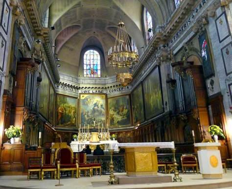 Sanctuary and apse, Notre-Dame des Victoires, Paris.