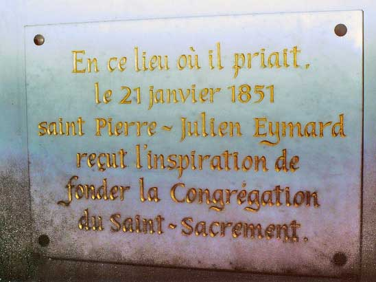 Commemorative plaque, Shrine of Our Lady of Fourvière