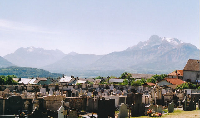 View from the cemetery, La Mure.
