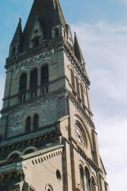 Spire of the 'new Church', La Mure.