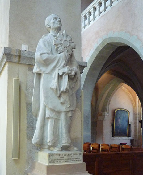 Statue of Peter Julian Eymard, Grenoble Cathedral.