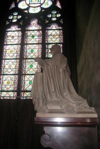 Statue of Archbishop Sibour, Chapelle Sainte-Madeleine, Cathédrale Notre-Dame de Paris.