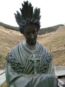 Bronze statue of Our Lady of La Salette.