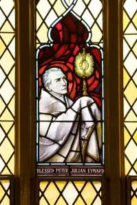 Blessed Peter Julian Eymard window, St Francis' Church, Melbourne.
