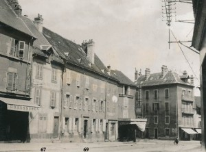 Rue du Breuil, La Mure showing Eymard's birthplace (No. 69) and the Eymard house (No. 67).