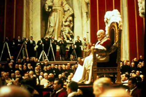 Pope John XXII at the canonisation ceremony, 9 December 1962.