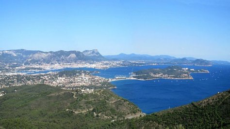 View to La Seyne-sur-Mer and Toulon.