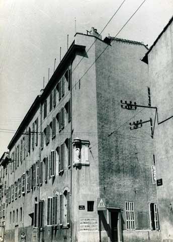 7 rue Nau, Marseille (1950s).